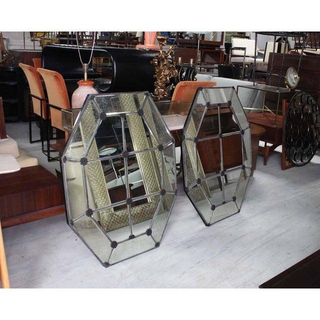 Pair of very nice decorative octagon mirrors.