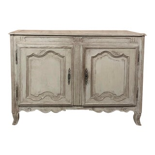 18th Century Antique French Louis XV Painted Buffet For Sale