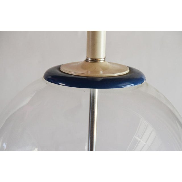 1950s Vintage Clear Glass Fish Bowl Shaped Table Lamp Attributed to Murano Glass For Sale - Image 5 of 6