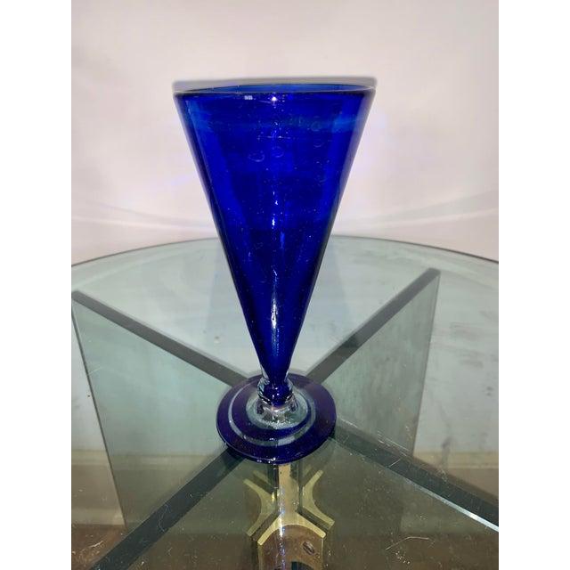 Vintage Cobalt Blue Shrub Glasses - Set of 10 For Sale - Image 10 of 11