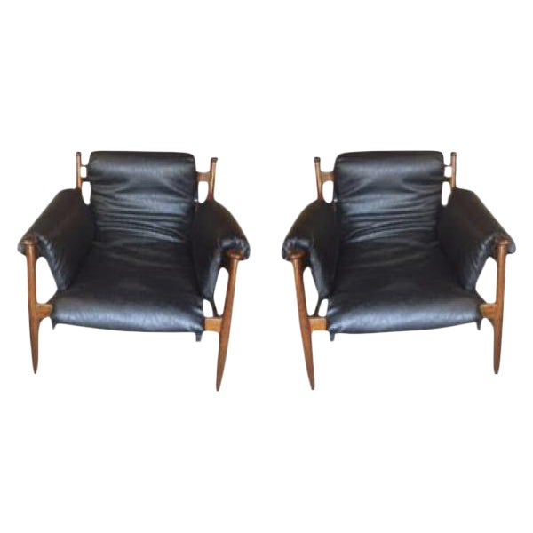 Finn Juhl Style Lounge Chairs - A Pair For Sale