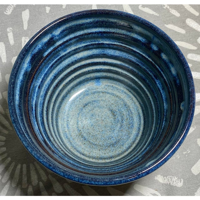 1990s 1990s Vintage Clement Clayworks Drip Glaze Pottery Bowl For Sale - Image 5 of 6