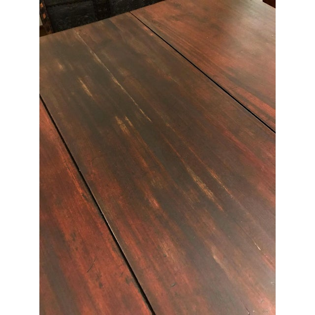 Brown Mid 18th Century Antique Mahogany Drop-Leaf Table For Sale - Image 8 of 13