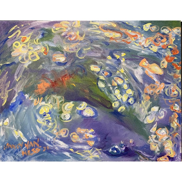 """""""Carpe Diem"""" Contemporary Abstract Oil Painting, Framed For Sale In Saint Louis - Image 6 of 11"""