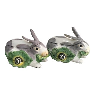 Mottahedeh Chelsea Rabbit Tureens - a Pair For Sale