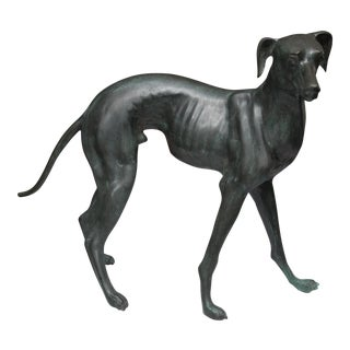 20th Century Bronzed Whippet For Sale