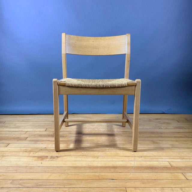 1960s Vintage Børge Mogensen Bm2 Oak & Papercord Dining Chairs- Set of6 For Sale In New York - Image 6 of 13