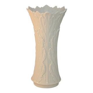 Vintage Lenox Porcelain Woodland Collection Acanthus Oak Leaf Vase For Sale