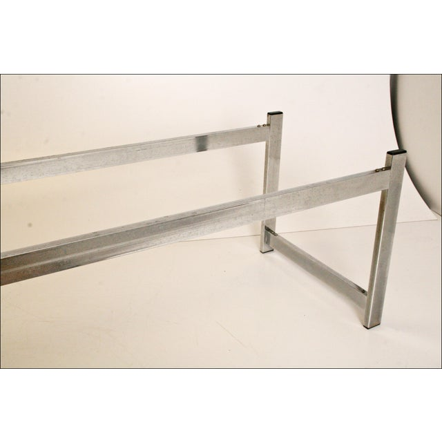 Mid-Century Modern Chrome & Glass Coffee Table - Image 10 of 11