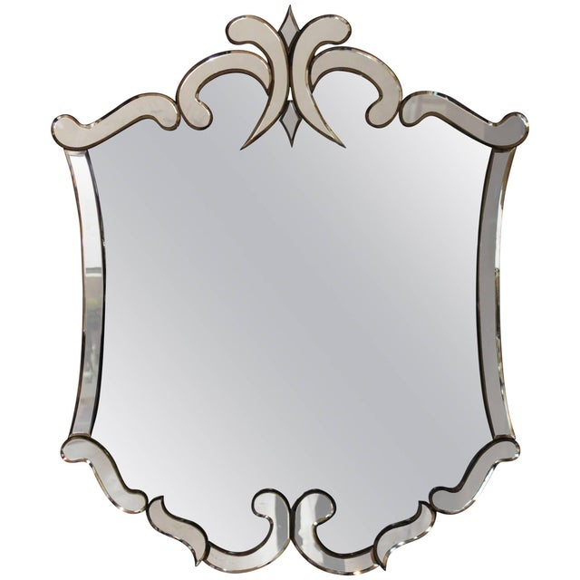 Silver 1940s Venetian Style Mirror For Sale - Image 8 of 8