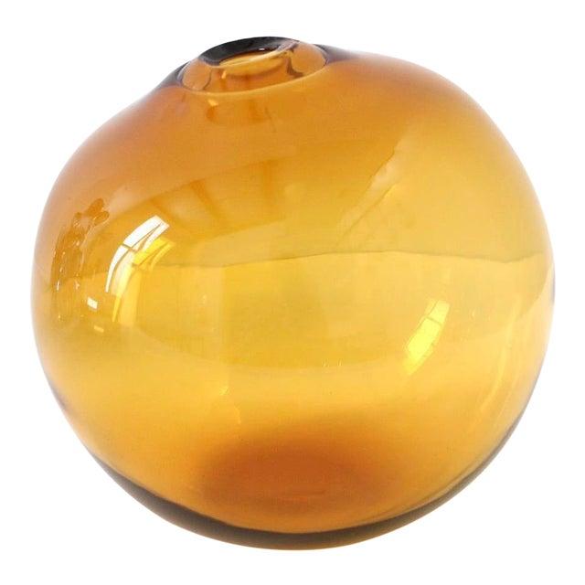 """SkLO Float Glass Vessel 8"""" - Amber For Sale"""