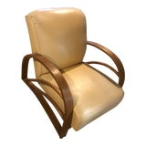 Image of 1930s Vintage Art Deco Club Chair For Sale