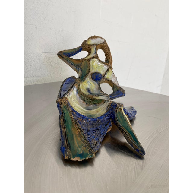 Ceramic Mid Century Marcello Fantoni for Raymor Female Figural Sculpture For Sale - Image 7 of 9