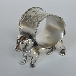 Victorian Dachshund Napkin Ring Preview