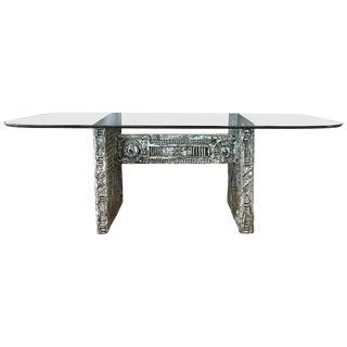 Adrian Pearsall for Craft Associates Brutalist Glass Top Dining Table For Sale