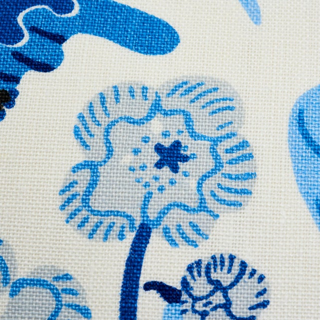 Textile Schumacher X Josef Frank Exotic Butterfly Pillow in Marine For Sale - Image 7 of 9