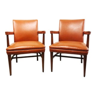 Vintage Mid Century Modern Gunlocke Chairs - a Pair For Sale