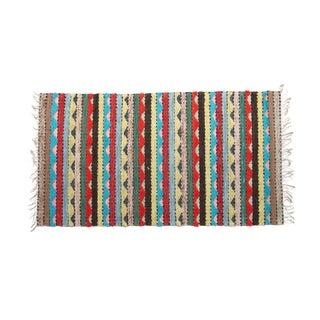 Vintage Swedish Handmade Rug For Sale