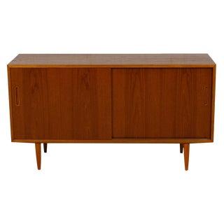 Compact Danish Modern Teak Sideboard / Media Cabinet