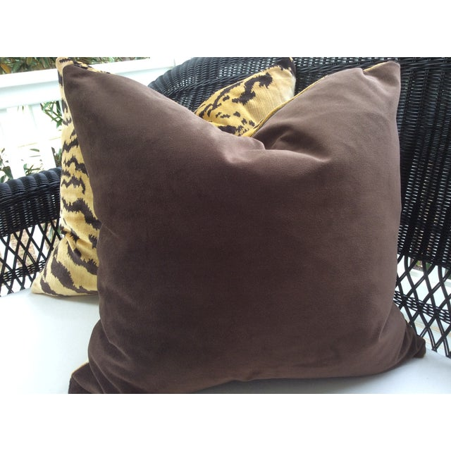 Scalamandre Le Tigre Down Pillows - A Pair - Image 3 of 3