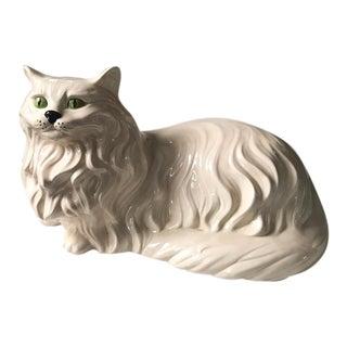 Mid Century Green Eyed Cat