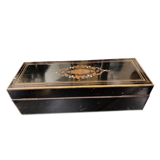 Napoleon III Ebonized Box With Mother of Pearl Inlay For Sale In Dallas - Image 6 of 7