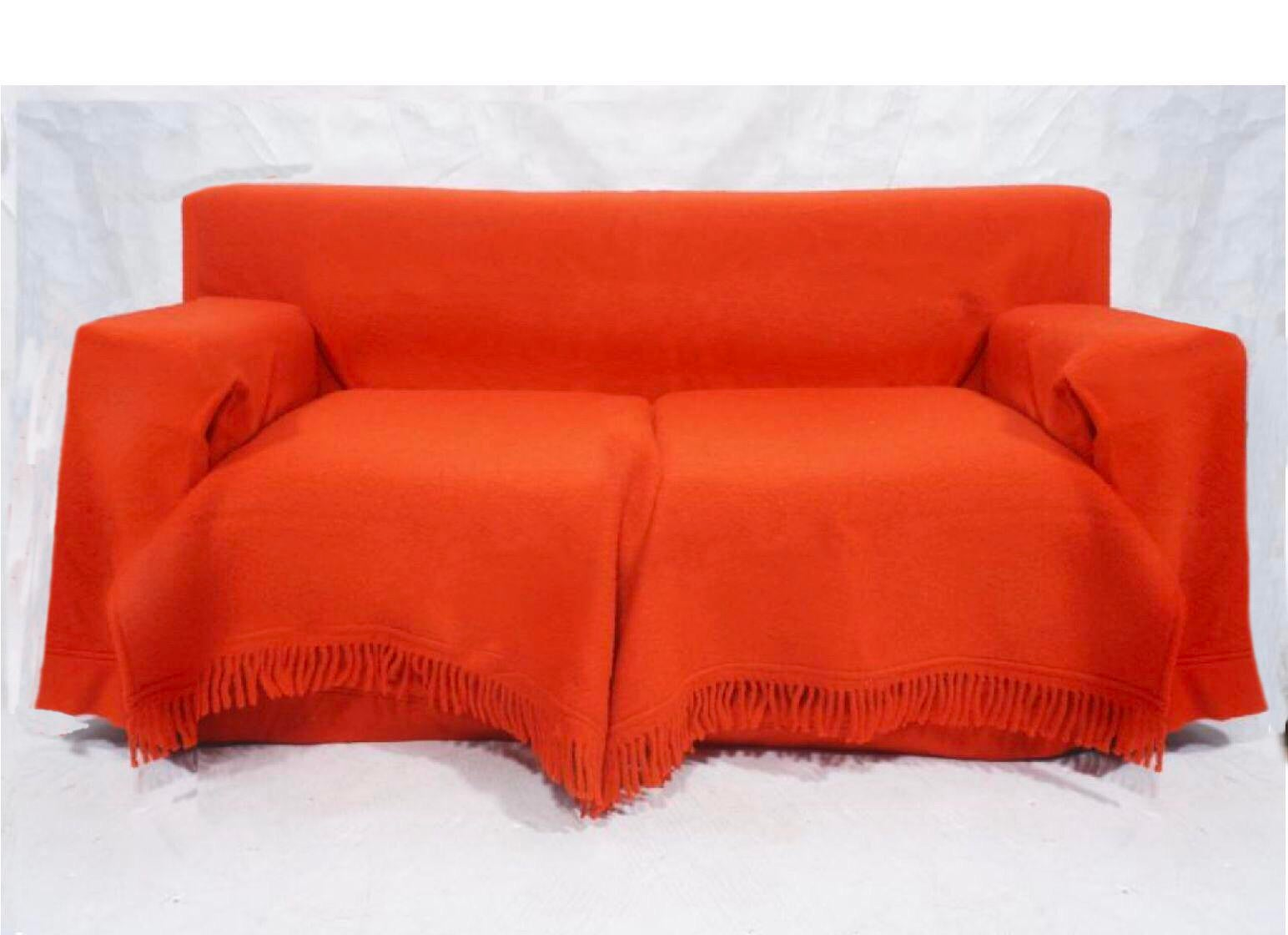 1984 Gianfranco Ferre With Paola Nava For Bu0026B Italia Red Wool Sofa   Image  10 Of