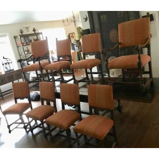 1900s Antique Jacobean Dining Chairs- Set of 8 Preview