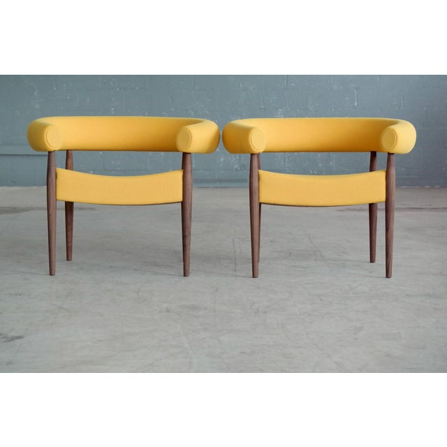 Contemporary Nanna Ditzel Pair of Ring Chairs for Getama For Sale - Image 3 of 13