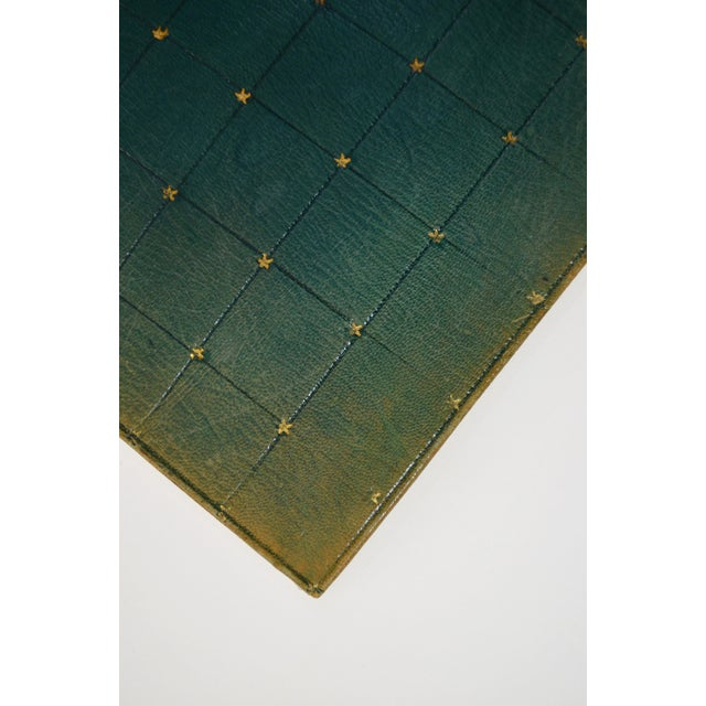 Early 20th Century Early 20th Century Antique Green Leather Portfolio For Sale - Image 5 of 6