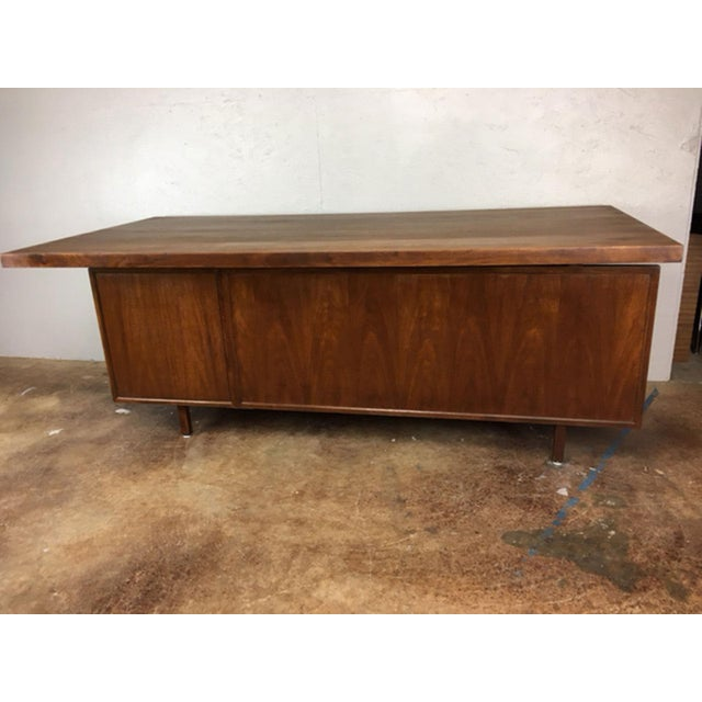 Large Walnut Executive Desk - Image 6 of 11