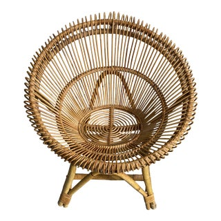 Pencil Rattan Chair on the Style of Ico Parisi For Sale