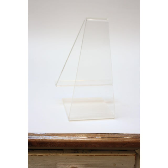 Vintage Lucite Tabletop Lectern / Music Stand - Image 4 of 8