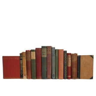 Antique Poetry Book Set in Earthtone, S/16 For Sale