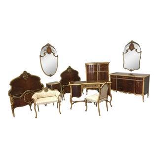 1920s Satinwood Bedroom Set - Set of 10