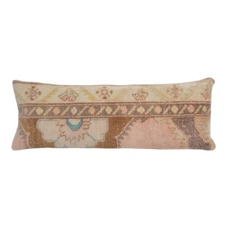 """Vintage Extra Long Turkish Bedding Rug Pillow 14"""" X 36"""" For Sale"""