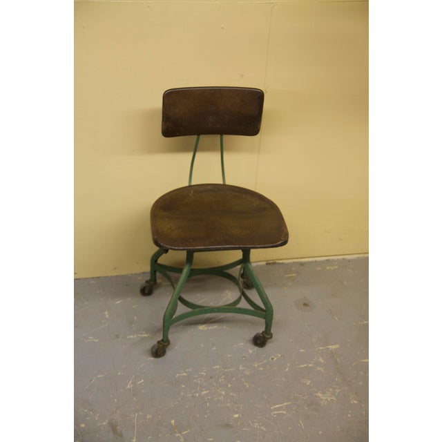 1950s 1950s Vintage Toledo Metal Furniture Co Industrial Chair For Sale - Image 5 of 7