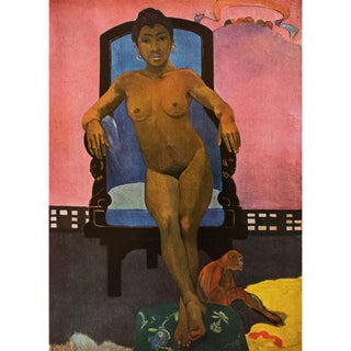 "1940s Paul Gauguin ""Annah, the Javanese With a Monkey"" First Edition Swiss Lithograph For Sale"