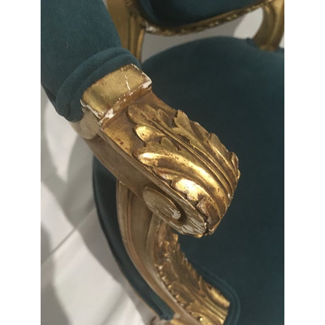 Mid 18th Century 19th C. French Gilt Chairs - a Pair For Sale - Image 5 of 13
