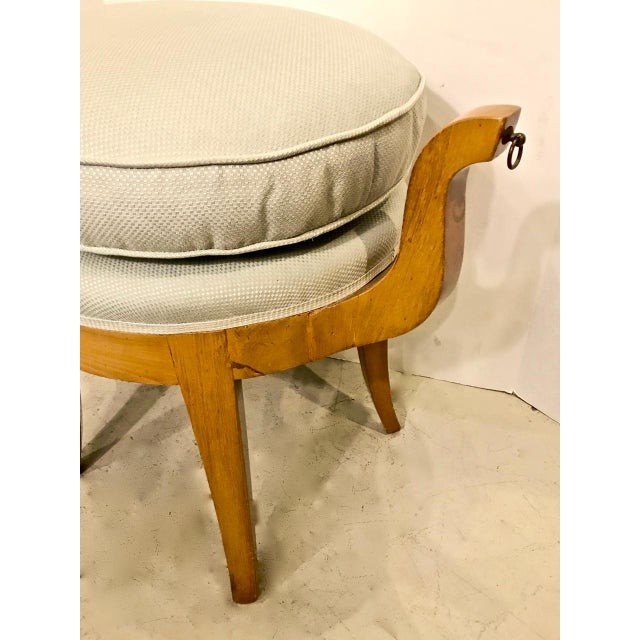 This is a wonderful late French Art Deco vanity bench in sycamore. The bench is an direct interpretation of a classical...