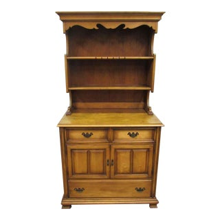 Rustic Maple 2 Pc. Cabinet Server For Sale