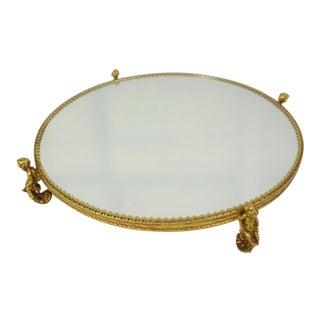 Cherub Round Mirrored Vanity Tray