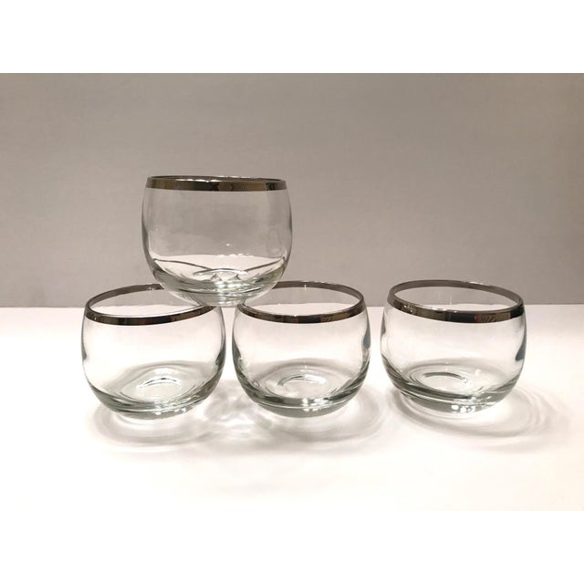 Art Deco Mid-Century Barware Glass Set With Sterling Silver Overlay by Dorothy Thorpe For Sale - Image 3 of 13
