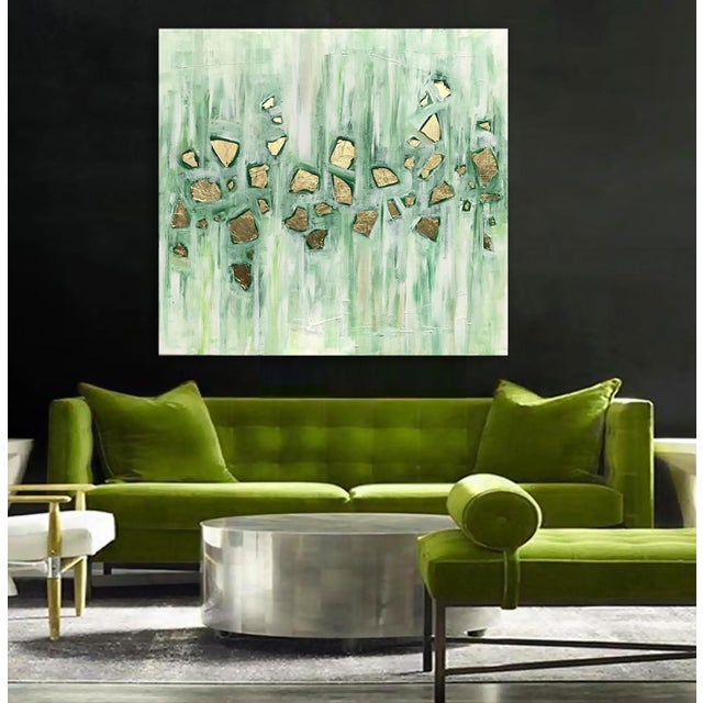 'Viridescence' Original Abstract Painting by Linnea Heide For Sale - Image 9 of 10