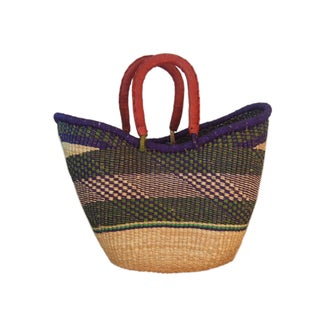Tribal African Woven Basket Preview