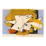 "Image of ""The Yellow Bird"" Original Lithograph by Georges Braque From ""Derriere Le Miroir No. 115"" (1959) For Sale"
