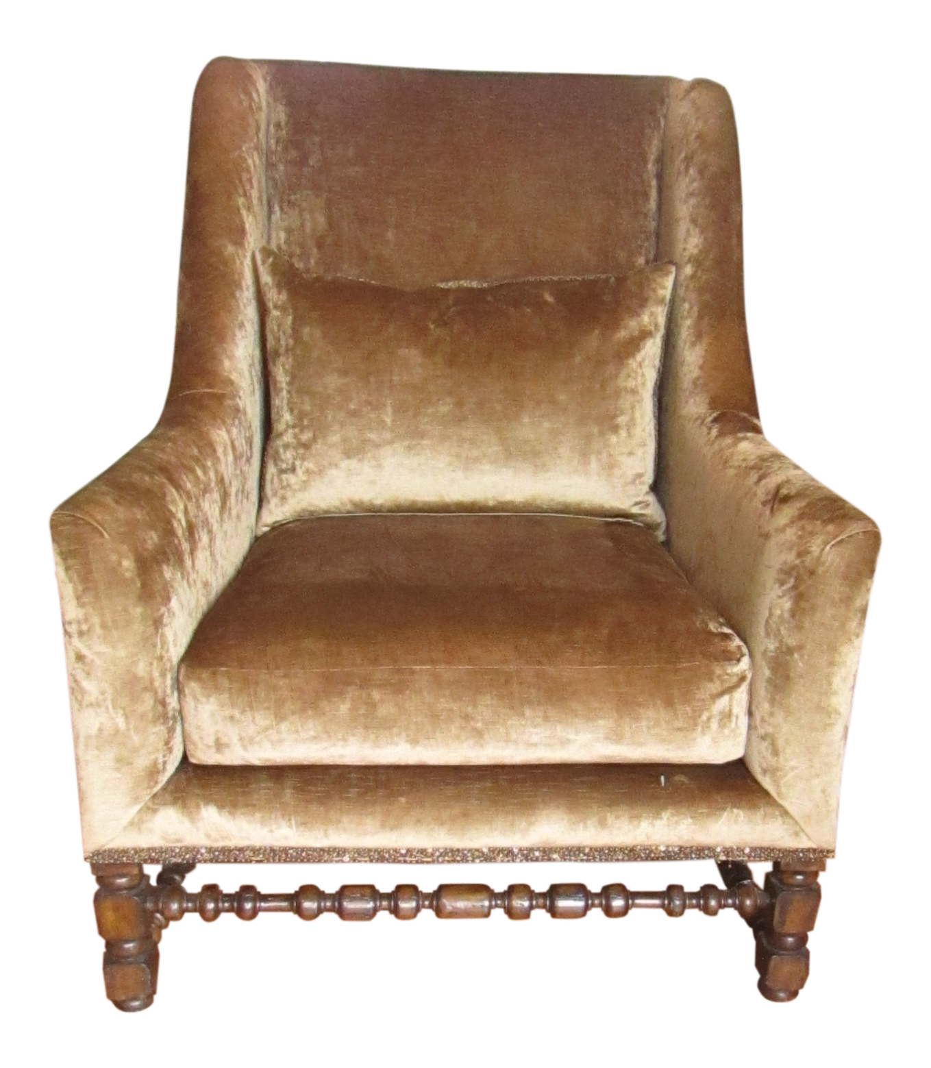 Merveilleux Marge Carson Crushed Velvet And Metallic Leather Accent Side Chair |  Chairish