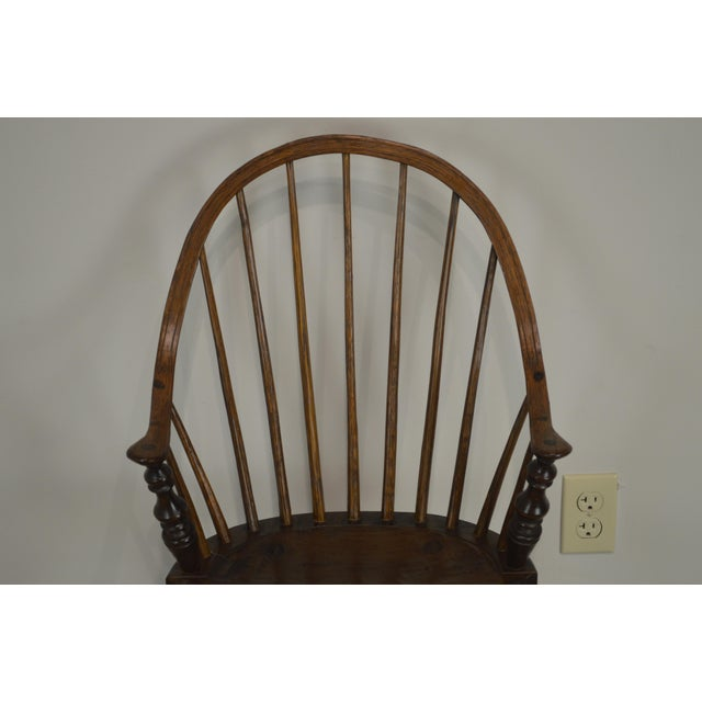 Windsor Style Childs Youth Arm Chair by K. Malone (18th Century Reproduction) For Sale - Image 11 of 13