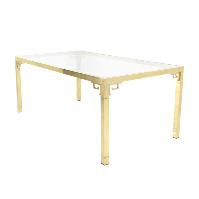 Mastercraft Solid Brass Dining Table For Sale - Image 9 of 9