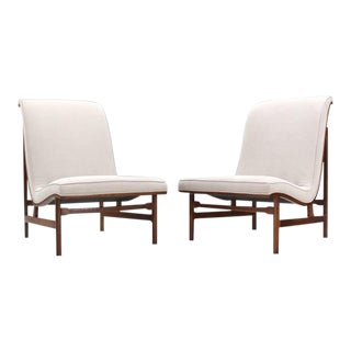 Vintage Mid Century Lounge Chairs- a Pair For Sale